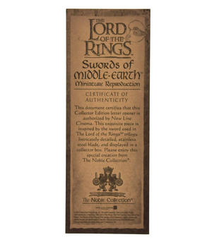 The Sting Sword Letter Opener - Lord of the Rings Replica by Noble Collection Thumbnail 5