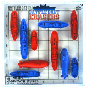 Battleboat Erasers - Classic Battleships Thumbnail 1