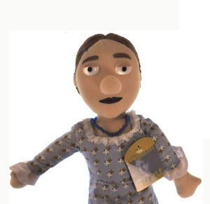 Virginia Woolf Soft Toy - Little Thinkers Doll Thumbnail 2