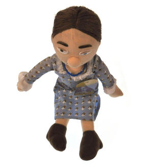Virginia Woolf Soft Toy - Little Thinkers Doll Thumbnail 3