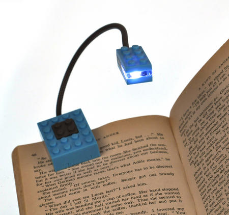 Block Light - Blue -  The Building Block Book Light