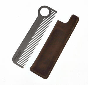 Beard Comb Set - Classic Model No.1  with Leather Sheath - Beard Grooming Essentials Thumbnail 1