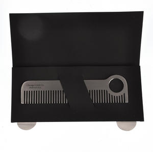 Beard Comb - Classic Model No.1 - Stainless Steel Grooming Tool Thumbnail 4