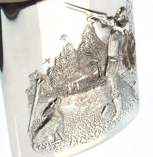 Shooting Hunter and Hound Hip Flask Set