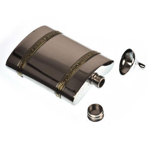 Celtic Knots Double Band Hip Flask Set - 6oz Thumbnail 2