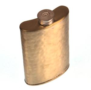 150ml Large Hammered Matt Gold Hip Flask Thumbnail 1
