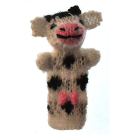 Cow - Handmade Finger Puppet from Peru