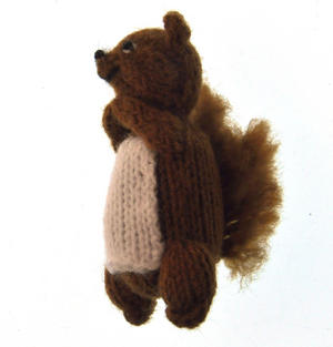 Squirrel - Handmade Finger Puppet from Peru