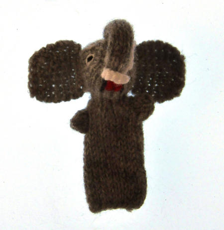 Elephant - Handmade Finger Puppet from Peru