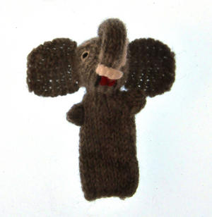 Elephant - Handmade Finger Puppet from Peru Thumbnail 1