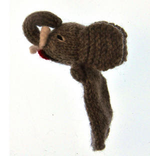 Elephant - Handmade Finger Puppet from Peru Thumbnail 2