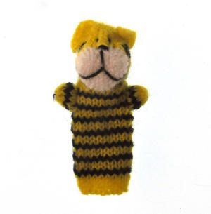 Tiger - Handmade Finger Puppet from Peru Thumbnail 1