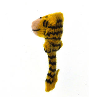 Tiger - Handmade Finger Puppet from Peru Thumbnail 2