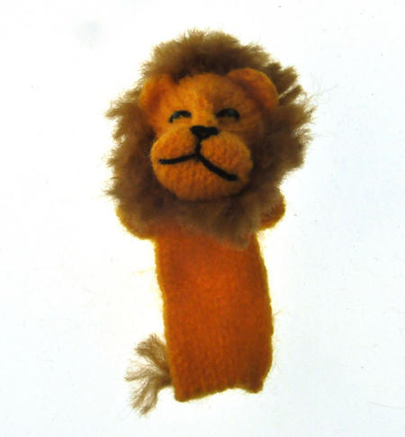 Lion - Handmade Finger Puppet from Peru