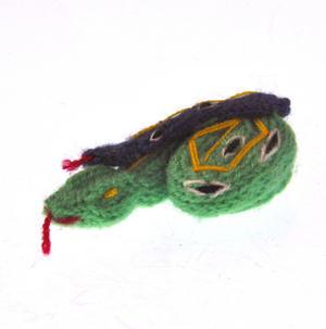 Snake - Handmade Finger Puppet from Peru - Random Colours Thumbnail 1