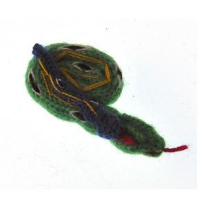 Snake - Handmade Finger Puppet from Peru - Random Colours Thumbnail 2