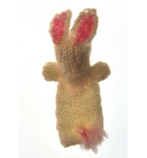 Rabbit - Handmade Finger Puppet from Peru Thumbnail 2