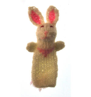 Rabbit - Handmade Finger Puppet from Peru Thumbnail 3