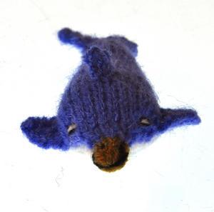 Dolphin - Handmade Finger Puppet from Peru Thumbnail 4