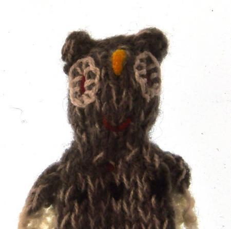 Owl - Handmade Finger Puppet from Peru