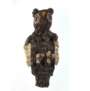 Owl - Handmade Finger Puppet from Peru Thumbnail 3