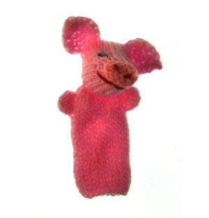 Piglet - Handmade Finger Puppet from Peru Thumbnail 3