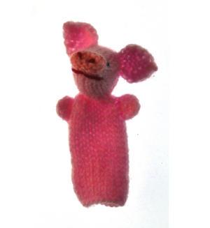 Piglet - Handmade Finger Puppet from Peru Thumbnail 1