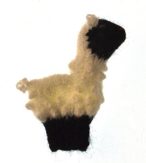 Sheep - Handmade Finger Puppet from Peru Thumbnail 2