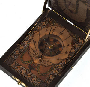 Pocket Sundial Compass Antique Scientific Instrument Thumbnail 5