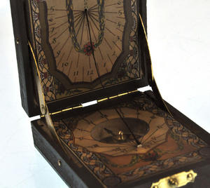 Pocket Sundial Compass Antique Scientific Instrument Thumbnail 6