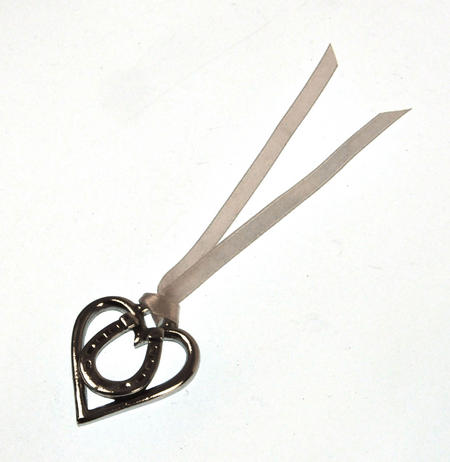 Love Heart Horseshoe Love Charm - Everlasting Welsh Lucky Charm Keepsake Forged in Pewter