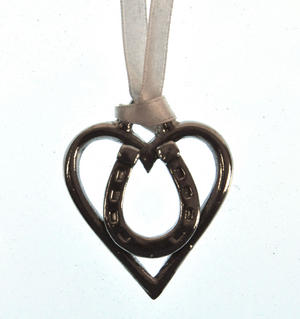 Love Heart Horseshoe Love Charm - Everlasting Welsh Lucky Charm Keepsake Forged in Pewter Thumbnail 3