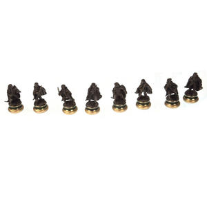 Lord of the Rings Chess Set - Two Tier Glass and Contoured Middle Earth Deluxe Set Thumbnail 7