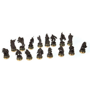 Lord of the Rings Chess Set - Two Tier Glass and Contoured Middle Earth Deluxe Set Thumbnail 8