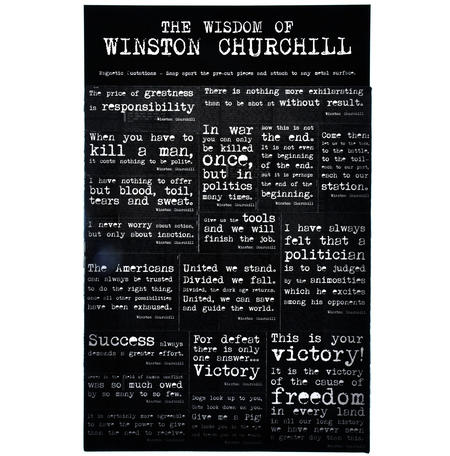 Wisdom of Winston Churchill - Fridge Magnet Set - Fridge Poetry
