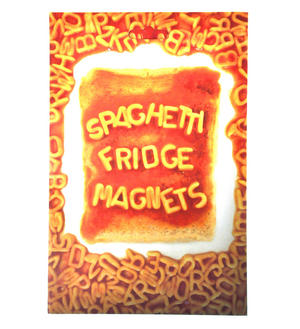 Spaghetti Fridge Magnet Set - Alphabet Spaghetti Font Fridge Poetry Thumbnail 1