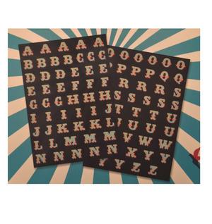 Circus Fridge Magnet Set - Big Top Font Fridge Poetry Thumbnail 2