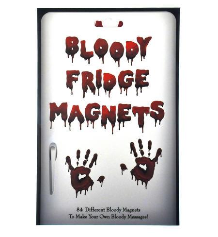 Bloody Fridge Magnet Set - Psycho Font Fridge Poetry