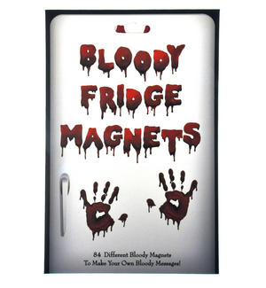 Bloody Fridge Magnet Set - Psycho Font Fridge Poetry Thumbnail 1