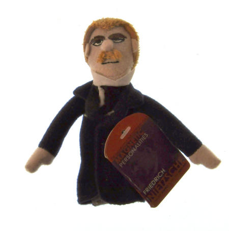 Friedrich Nietzsche Finger Puppet & Fridge Magnet