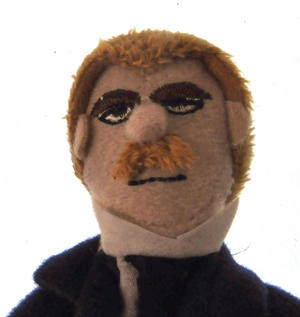 Friedrich Nietzsche Finger Puppet & Fridge Magnet Thumbnail 2
