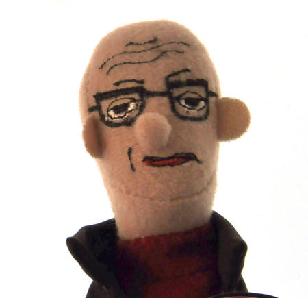 Michel Foucault Finger Puppet & Fridge Magnet