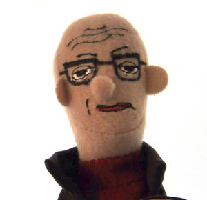 Michel Foucault Finger Puppet & Fridge Magnet Thumbnail 1