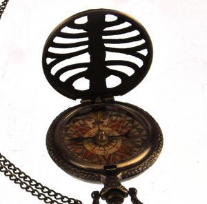 Pocket Skeleton Compass Antique Scientific Instrument Thumbnail 1