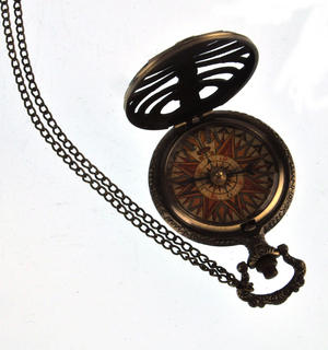 Pocket Skeleton Compass Antique Scientific Instrument Thumbnail 2