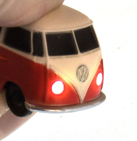 LED Volkswagen Camper Van Torch Key Ring - Random Colours