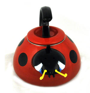 Ladybird - Traditional Whistling Hob Kettle Thumbnail 2