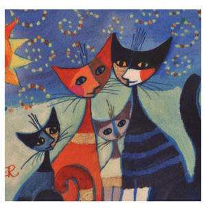 Momenti di felicita / Moments of happiness - Cat Family Make Up Bag designed by Rosina Wachtmeister Thumbnail 2