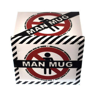 XXL Man Mug with Built in Spirit Level, Pencil and Women Forbidden Sign on Base Thumbnail 5