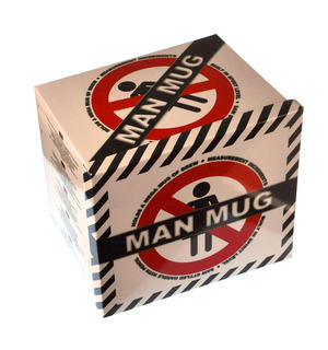 XXL Man Mug with Built in Spirit Level, Pencil and Women Forbidden Sign on Base Thumbnail 6